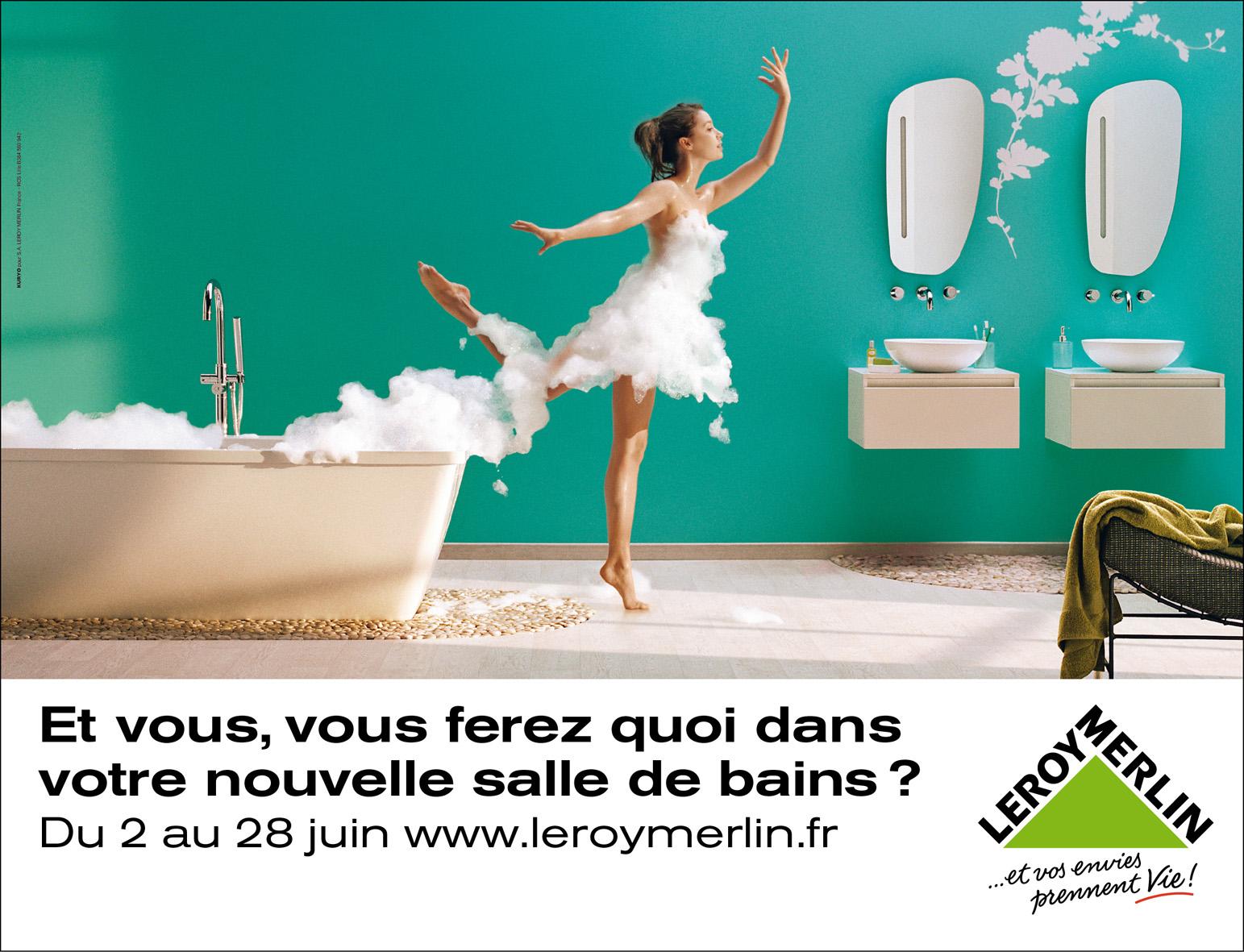 Kuryo Affiche La Cuisine Et La Salle De Bains Pour Leroy Merlin